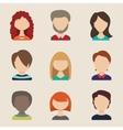 People icons peolple avatars flat style vector image