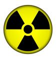 Radiation warning symbol button vector image