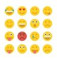 Set of Emoticons Emoji vector image