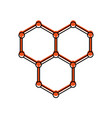 Structure molecular isolated icon vector image