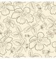 brown flowers vector image