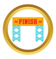 Finish race gate icon vector image