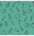 Stomatology set pattern vector image