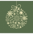 Christmas card with holiday elements vector image