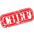 Chef stamp vector image