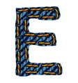 Farmerke tekstura slovo E vector image vector image