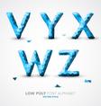 Letter designs vector image