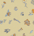 Flower seamless texture Endless floral pattern Can vector image