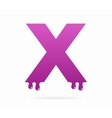 Letter X logo or symbol icon vector image