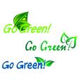 Go green symbols vector image
