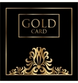 gold card cover design Excellent Cover vector image