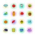Autumn icons set pop-art style vector image