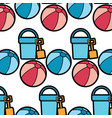 beach ball bucket shovel toy accessories vacation vector image