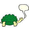 Cartoon tortoise with speech bubble vector image