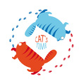 cats time vector image