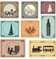 Cities in retro style vector image