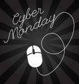 Cyber Monday lettering design sales Big sale vector image