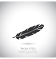 Feather icon or logo vector image