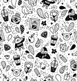Fun doodle seamless pattern vector image