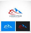 house mountain travel logo vector image