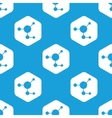 Molecule hexagon pattern vector image