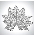 Of Black Leaf vector image