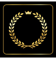 Gold laurel wheat wreath icon crown vector image