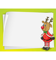 A paper sheets and a reindeer vector image