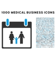 Family Calendar Day Icon With 1000 Medical vector image