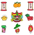 element Chinese New Year doodles vector image
