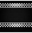 Metallic perforated gray sheet vector image