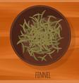 fennel flat design icon vector image