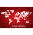 Christmas World Map in Typography vector image