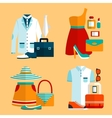 Shopping Clothing Icons Set vector image
