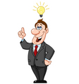 businessman under light bulb vector image vector image