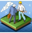 Isometric Infographic Building Certification vector image vector image