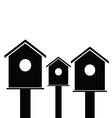 birdhouses wooden black vector image