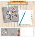 Aztec printable set vector image vector image