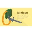 Gatling minigun isometric flat vector image