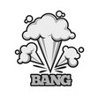bang effect with clouds of dust monochrome vector image