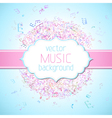 Colourful music background vector image