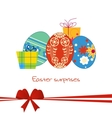 easter gift card vector image