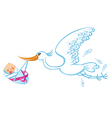 Happy stork vector image
