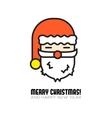 santa claus head isolated icon vector image