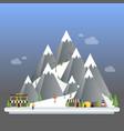 ski resort modern cartoon concept mountain vector image