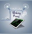 tablet computer responsive design financial graph vector image