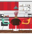 new dinner room vector image