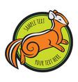 chipmunk logo template vector image