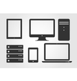 Electronic Device Icons flat design vector image
