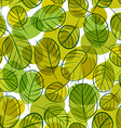 Green leaves seamless background floral seamless vector image vector image